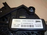 Original equipment Ford Fiesta and Focus 120 Amp Alternator AV6N-10300-HA / AV6N10300HA TG12C087