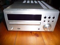 Denon RCD-M39 CD, FM, DAB Receiver with Remote Control + a Pair of Wharfdale Diamond 10.1 Speakers