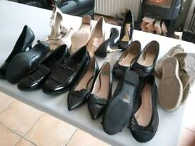 SELECTION OF 10 VARIOUS SIZED LADIES FASHION SHOES