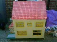 Vintage, large double sided, dolls house.