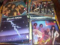 84 Rock Lps & 19 Rock 12 inch ; Vinyl Records 80s & 90s JOB LOT