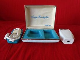 nice remington vintage shaver for 'arms' and 'legs' in original box with cord etc