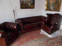 new chesterfield leather suite