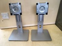 TWO (2x) Dell U2515H Stands - Desktop Monitor Screen Mounts