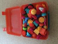 Stickle bricks with carry case