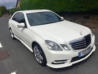 Mercedes E Class E220 cdi AMG sport Auto white REDUCED OFFERS e250 e300 e350 c220