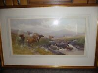 Framed original water colour by well know artist