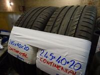 MATCHING PAIR 245 40 20 CONTISPORTS & PAIR 245 45 20 MICHELINS ALL 8mm tread £100 PAIR SUP & FITD