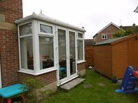 Conservatory, only 4 years old, very good condition complete with window and door blinds