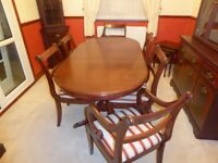 dining table and six[6] chairs