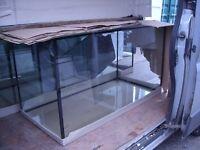 """Aquarium Fish Tank 3ft - 4ft 100x50x50 cm (aprox 40""""x20""""x20"""") 250L 8 mm glass NEW"""