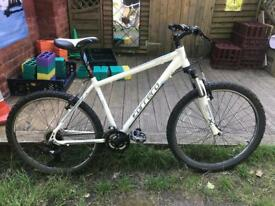 """Carrera Valour 16"""" Aluminium mountain bike with front suspension and 21 speed shimano gears"""