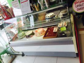 Display fridge serve over counter for cake display or food display for cake restaurant or cafe
