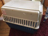IATA airline transport dog crate/kennel with water bottle