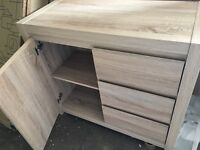 Sicily 1 Door 3 Drawer Sideboard Oak