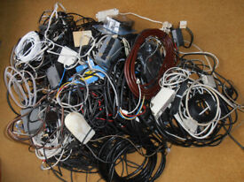 Leads & cables - SCART, aerial, telephone, mains, computer, transformers etc.