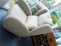 Swivel and tilt armchair