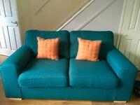 2 seater sofa, armchair and footstool