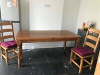 Reduced Even Further!!!......Solid pine dining table & chairs