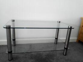 TV stand, glass