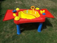 Toddlers sand/water table inclding toys