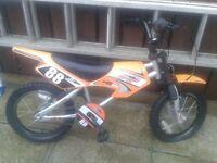 boys srambler type bike