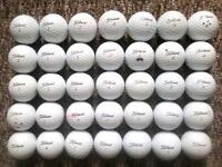 35 Titleist golf balls in very good condition, tour distance, dt solo, velocity, NXT,