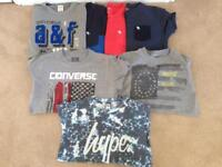 Bundle of boys t-shirts hype, Abercrombie and converse