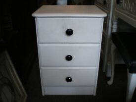 SOLID PINE WHITE BEDSIDE TABLE