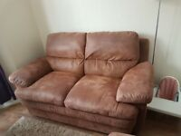 3 and 2 seater sofa for sale with foot stool. Can deliver at a small fee if not far.