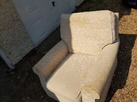 Sofa (3 Seater) & Armchair - Free to whoever can collect