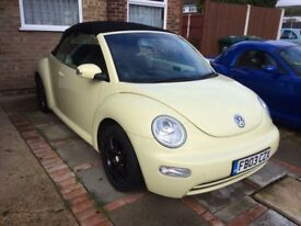 2003 VW BEETLE CONVERTIBLE ,EXCELLENT CONDITION,MOT, LOW MILES £2500 ONO