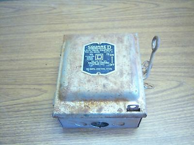 Used Square D Cat # 99351 30Amp Fusible Switch 230 VAC