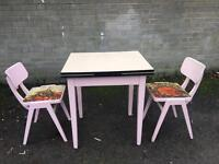 RETRO VINTAGE TABLE AND CHAIRS EXTENDABLE 1960s FREE DELIVERY 🇬🇧