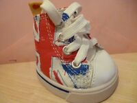 build a bear union jack shoes. never walked in (honest!) bargain