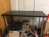 LINNMON ikea desk tables black or white silver legs 120 x 60cm and 150x75 (£10 / each)