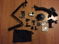 GOPRO HERO4 Silver Edition (used) with 3 mounts