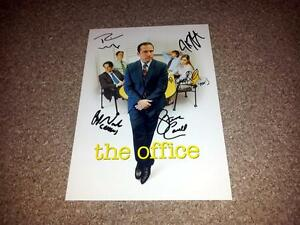 THE-OFFICE-US-PP-CAST-X5-SIGNED-12-X8-INCH-POSTER-STEVE-CARELL-RAINN-WILSON