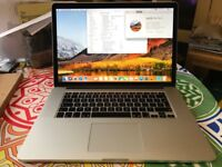 Macbook Pro 15 Retina 2.3ghz Intel Quad Core i7 - 8GB Ram - 512GB SSD - Dual Graphics, Mid 2012