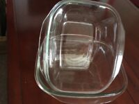 2 x large Casserole glass dishes
