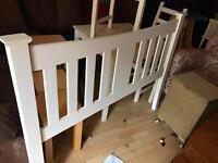 Double white Bedframe (no mattress)