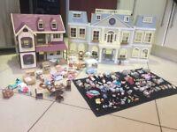 Sylvanian Family Bundle including Grand Regency Hotel and Oakwood Manor House