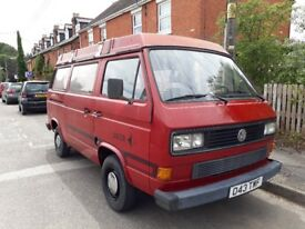 Vw campervan T25 Westfalia joker pop top 1986 1.9td MOT May 2019 original