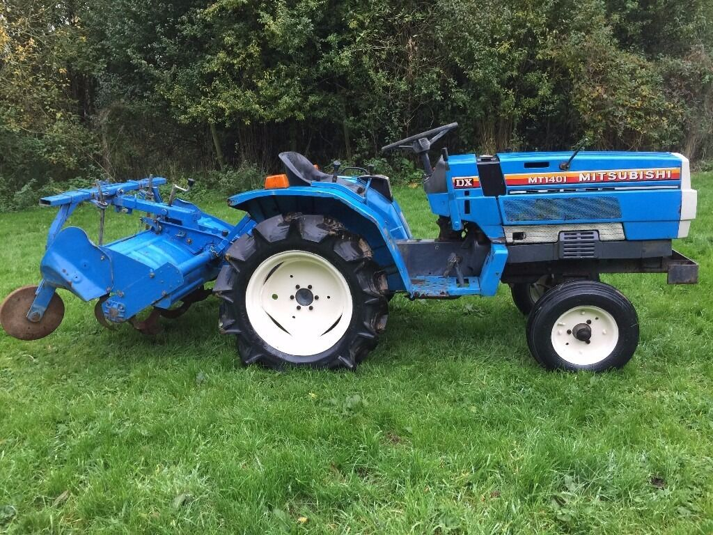 Mitsubishi Compact Tractors : Mitsubishi mt wd compact tractor with rotavator