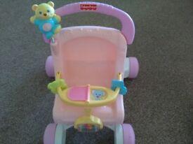 Fisher price my first stroller walker