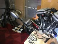 Harley Davidson NEW Paughco hardtail Sportster 1200 engine bobber chopper project
