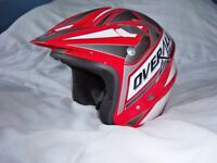 NAU OVERALL ROAD/TRIALS HELMET SIZE M (57-58). EXCELLENT CONDITION VERY LITTLE USE.