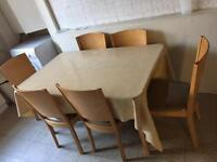 BARGAIN, wooden dining table and chairs set only £40