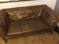 X2 Leather settee(s) John Lewis Groucho
