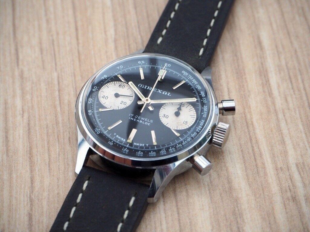 Panda Chronograph Poor Man Heuer Vintage Watch In